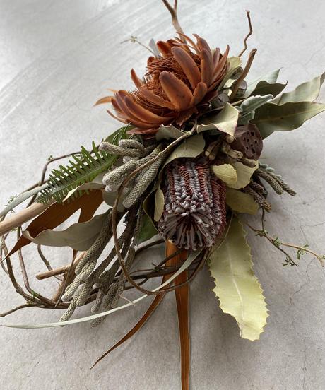 バンクシアとサルフレアの柳飾り 送料込み