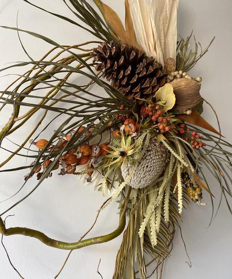 秋の柳飾り 送料込み