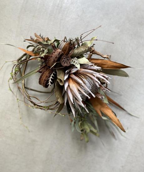 キングプロテアの柳飾り 送料込み