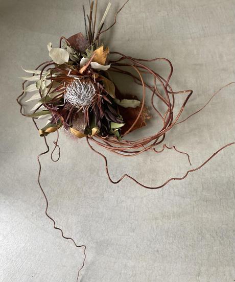 プロテアと赤蔓の飾り 送料込み