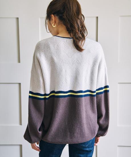 透かし編みプルオーバー