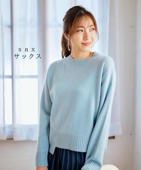 編地切替クルーネックプルオーバー/ 062419