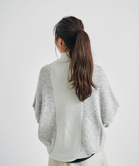 アルパカ混配色ドルマンコクーンシルエットカーディガン/ 062501
