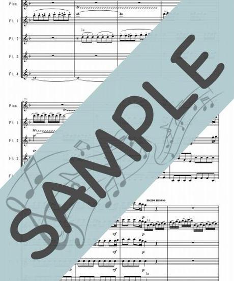 SP-TFF003-01 四季より「春」/ヴィヴァルディ:フルート九重奏(Piccolo,4~8Flutes)
