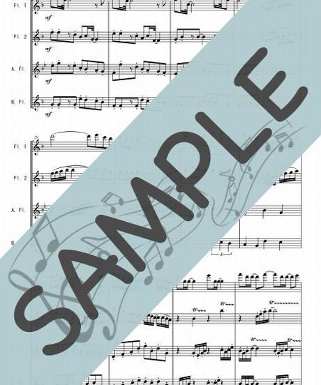 SJ-FQG020-01 卒業写真/荒井由実:フルート四重奏(2Flutes,Alto-Flute,Bass-Flute)