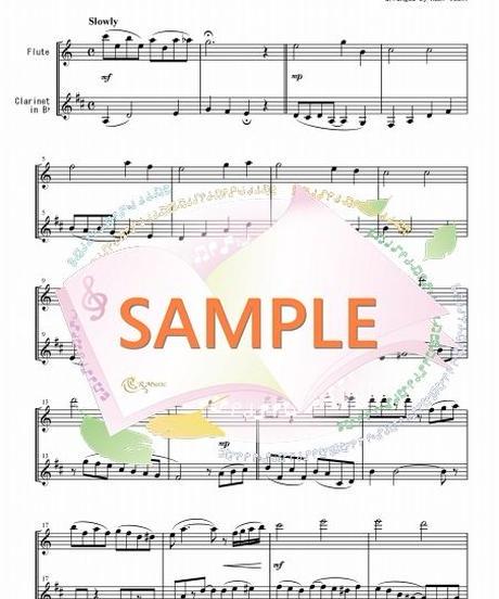 FD020 ハワイの結婚の歌:フルート&クラリネット