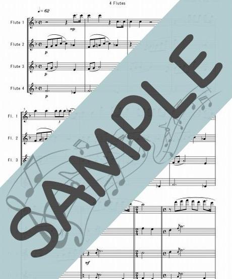 SP-FQ013-01 誰も寝てはならぬ Nessun Dorma/プッチーニ:フルート四重奏(4 Flutes)