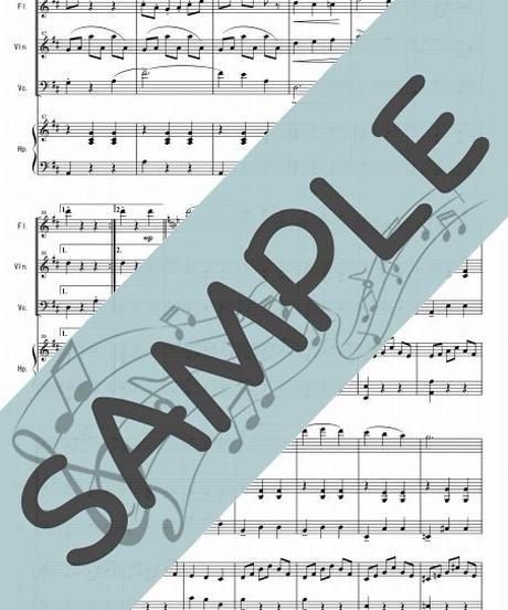SP-FVC006-01 美しく青きドナウ/J.シュトラウス:管弦楽三重奏(フルート、ヴァイオリン、チェロ/op.+ハープ)