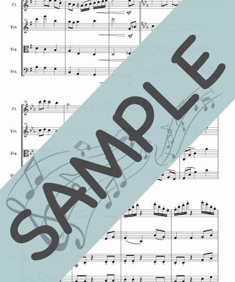 SP-FSQ003-01 ジュピター「惑星」より/ホルスト:管弦楽四重奏(Flute,Violin,Viola,Cello)