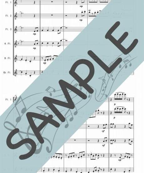SJ-FEG002-01 キャンディ キャンディ/渡辺岳夫:フルートオーケストラ、最小編成/フルート六重奏