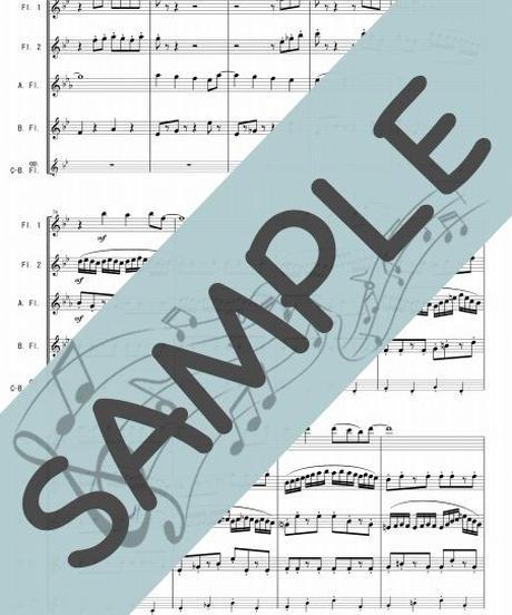 RJ-FQG013-01 となりのトトロ/久石譲:フルート四重奏(2Flutes,Alto-Flute,Bass-Flute/op.+Contrabass-Flute )