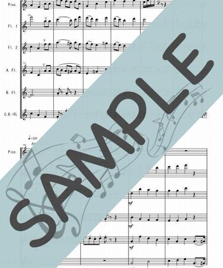 SJ-FEG004-01 おしえて「アルプスの少女ハイジ」より/渡辺岳夫:フルートオーケストラ、最小編成/フルート六重奏