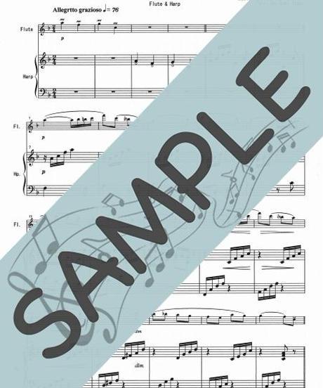 SP-SET003-01 春の曲4曲セット(HF009~HF012 ):ハープ&フルート
