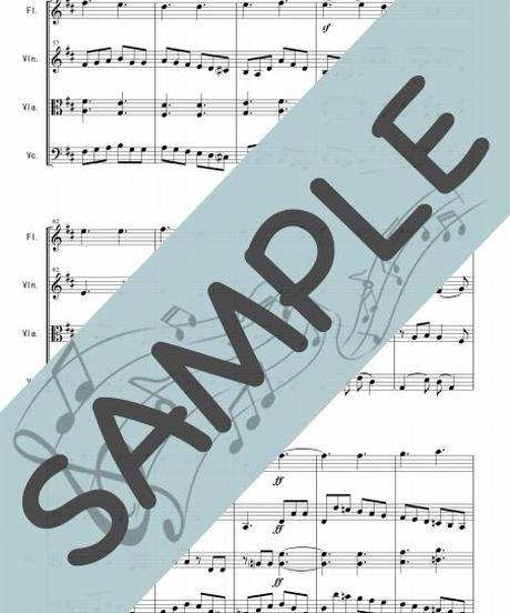SP-FSQ001-01 歓喜の歌「交響曲第9番 第4楽章」より/ベートーヴェン :管弦楽四重奏(Flute,Violin,Viola,Cello)