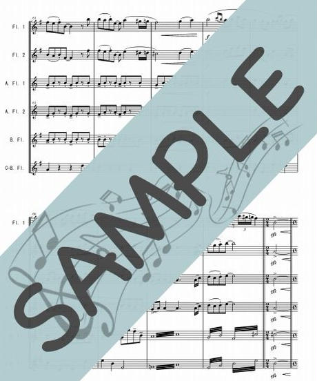 SJ-FEG001-01 アシタカせっ記「もののけ姫」より/久石譲:フルートオーケストラ、最小編成/フルート六重奏