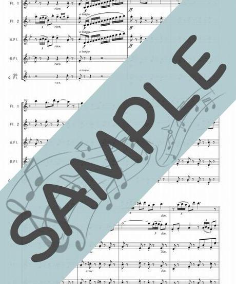 SP-FQG028-01 闘牛士の歌「カルメン」組曲第2番より/ビゼー:フルート四重奏(2Flutes,Alto-Flute,Bass-Flute/op.+Contrabass-flute)