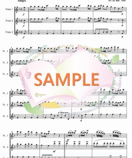 FT010 四季より「春」/ヴィヴァルディ:フルート三重奏(3Flutes)