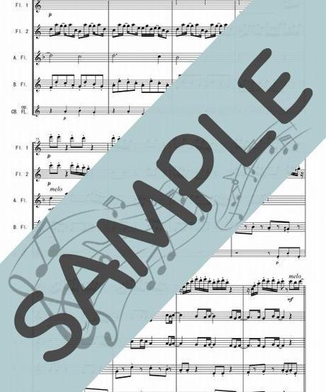 SN-FQG015-01 春よ、来い/松任谷由実:フルート四重奏(2Flutes,Alto-Flute,Bass-Flute/op.+Contrabass-Flute )