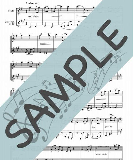 SP-SET002-01 クラシック名曲5曲セット(FK009~FK013):フルート&クラリネット