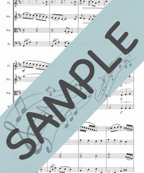 SJ-FSQ004-01 ホール・ニュー・ワールド(A Whole New World)「アラジン」より/ アラン・メンケン:管弦楽四重奏(Flute,Violin,Viola,Cello)