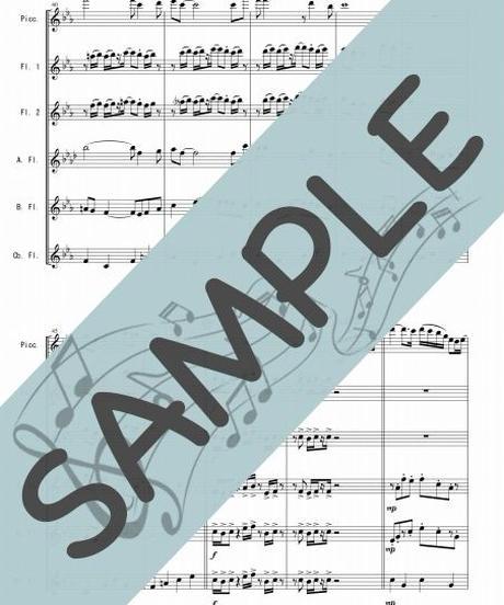 SJ-FEG003-01 ルパン三世のテーマ'78/大野雄二 :フルートオーケストラ、最小編成/フルート六重奏