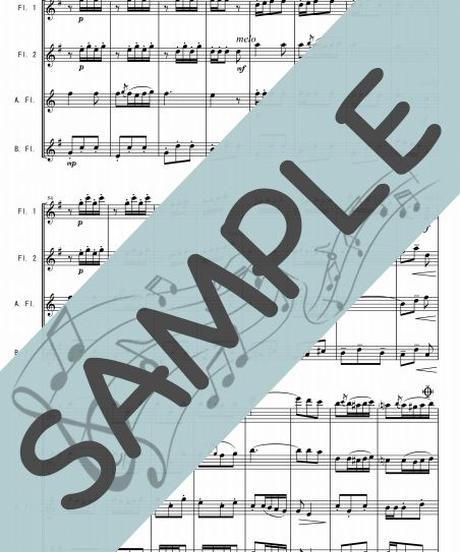 SP-FQG010-01 乾杯の歌「椿姫」より/ヴェルディ:フルート四重奏(2Flutes,Alto-Flute,Bass-Flute)
