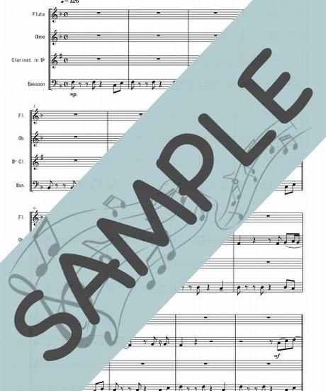 SJ-WQ012-01 スタンド・バイ・ミー(Stand by Me)/ベン・E・キング:木管四重奏(Flute,Oboe,Clarinet,Bassoon)