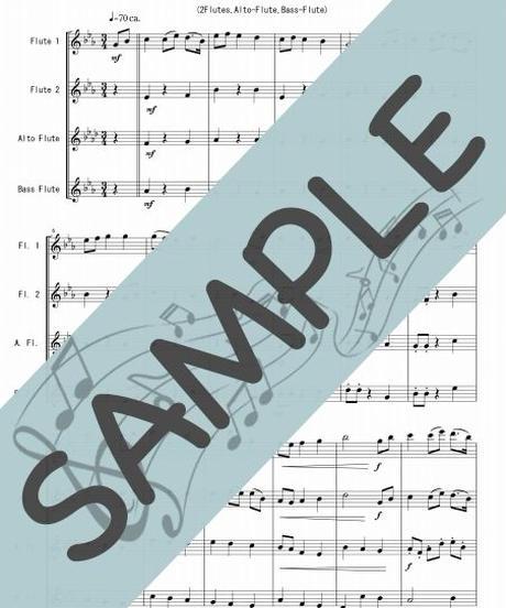 SP-FQG027-01 ジュピター「惑星」より/ホルスト:フルート四重奏(2Flutes,Alto-Flute,Bass-Flute)