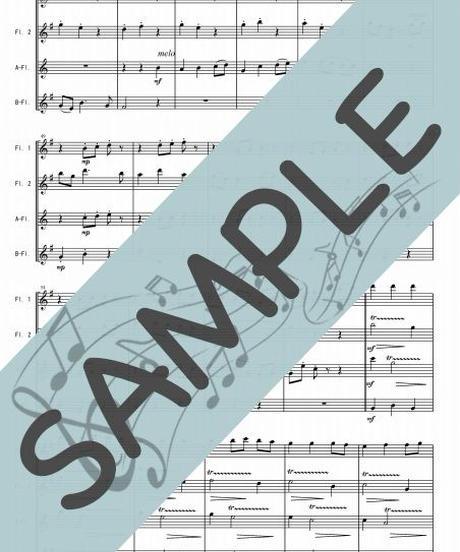 SJ-FQG008-01 いつも何度でも「千と千尋の神隠し」より/ 木村弓:フルート四重奏(2Flutes,Alto-Flute,Bass-Flute)