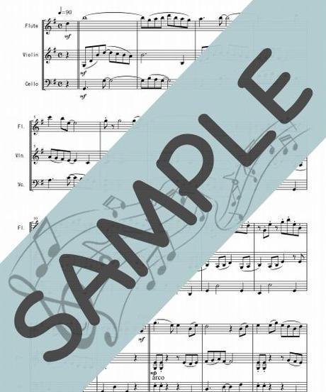 SJ-FVC011-01 川の流れのように/見岳章:管弦楽三重奏(フルート、ヴァイオリン、チェロ)