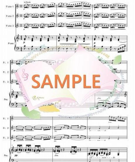 PF004 小組曲「行列」/ドビュッシー:フルート3本とピアノ
