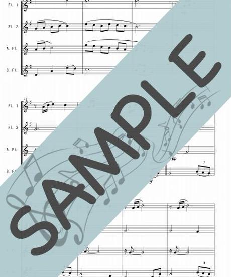 SP-FQG026-01 アメージング・グレース(Amazing Grace)/讃美歌:フルート四重奏(2Flutes,Alto-Flute,Bass-Flute)