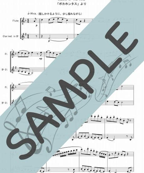 SJ-FK021-01 カラー・オブ・ザ・ウィンド(COLORS OF THE WIND)「ポカホンタス」より/アラン・メンケン:フルート&クラリネット(Flute&Clarinet)