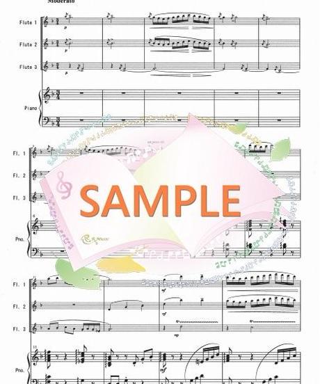 PF005 小組曲「メヌエット」/ドビュッシー:フルート3本とピアノ