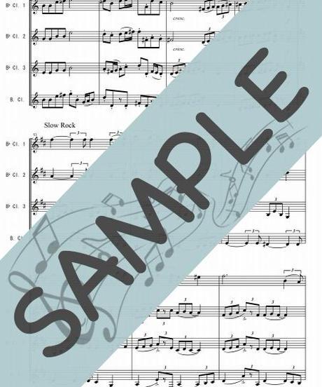 SJ-KQ003-01 見上げてごらん夜の星を/いずみたく:クラリネット四重奏(3Clarinets in Bb,Bass Clarinet)