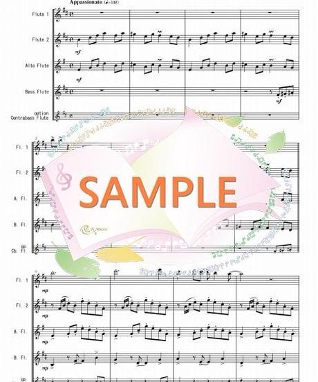 FQG019 真夏の夜の夢/松任谷由実:フルート四重奏(2Flutes,Alto-Flute,Bass-Flute/op.+Contrabass-flute)