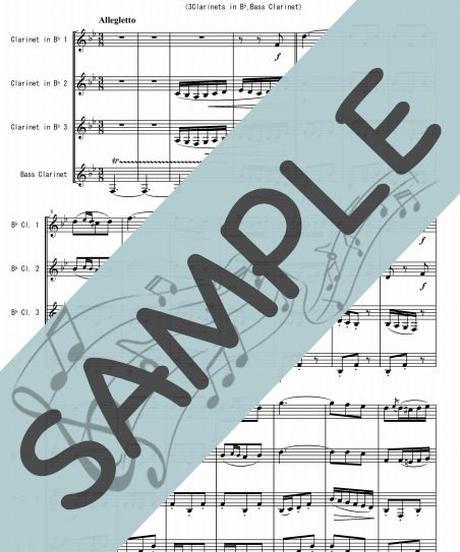 SP-KQ001-01 乾杯の歌「椿姫」より/ヴェルディ:クラリネット四重奏(3Clarinets in Bb,Bass Clarinet)
