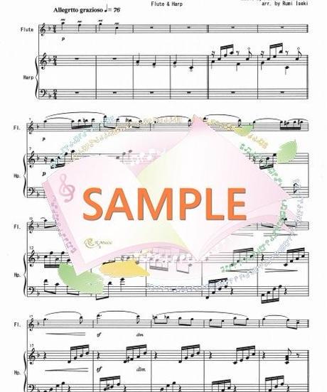 HF011 春の歌/メンデルスゾーン:ハープとフルート