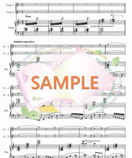 PF007 【耳に残るは君の歌声「真珠採り」より/ビゼー:フルート2本とピアノ