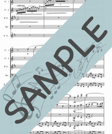 SR-WQ009-01 虹のワルツ1~3楽章/井関るみ:木管四重奏(フルート2本、クラリネット、ファゴットorバスクラリネット)