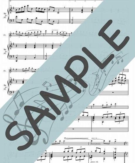 SP-HF010-01 春色のメヌエット/原曲はバッハのメヌエット:ハープ(又はピアノ)とフルート