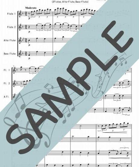 SP-FQG030-01 主よ人の望みの喜びよ/J.S.バッハ:フルート四重奏(2Flutes,Alto-Flute,Bass-Flute)