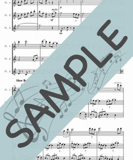 SP-FT024-01 アメージング・グレース(Amazing Grace)/讃美歌:フルート三重奏(3Flutes)