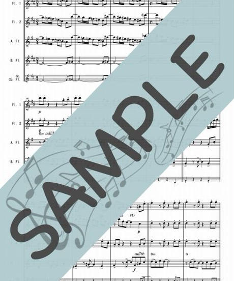 SJ-FQG019-01 真夏の夜の夢/松任谷由実:フルート四重奏(2Flutes,Alto-Flute,Bass-Flute/op.+Contrabass-Flute)