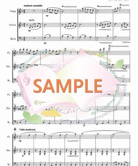 FVC008 メリーウィドウ・ワルツ/F.レハール:管弦楽三重奏(フルート、バイオリン、チェロ)