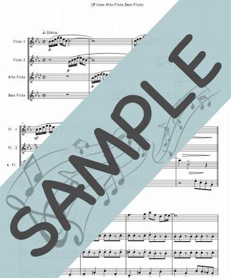 SJ-FQG016-01 やさしさに包まれたなら/荒井由実:フルート四重奏(2Flutes,Alto-Flute,Bass-Flute)