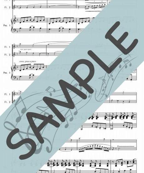 SP-PF008-01 グノーのアヴェ・マリア-リズムアレンジ:ピアノ&フルート2本