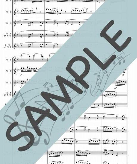 SP-FQ014-01 四季の彩り~日本の歌メドレー:フルート四重奏(4Flutes or 3Flutes,Alto-Flute)