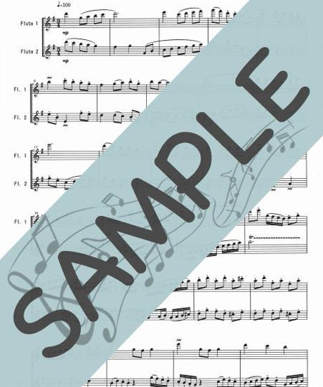 SP-FD009-01 春色のメヌエット/原曲はバッハのメヌエット:フルート二重奏