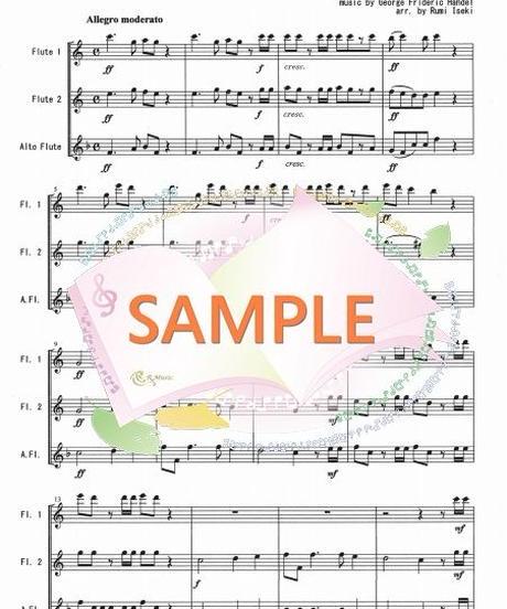 FT004 ハレルヤ・コーラス /ヘンデル:フルート三重奏(2Flutes,Alto-Flute)